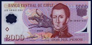CHILE - P160c - 2000 Pesos 2008 - POLYMER - #AR08 - Choice About UNC - RARE
