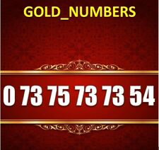 GOLD MOBILE NUMBER MEMORABLE EXCLUSIVE GOLDEN EASY VIP 07375737354