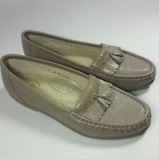 Women's SAS Tri-Pad Comfort Shoes Slip-on Tassel Loafers Light Tan EXCELLENT-7 N