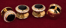 Shirt studs - onyx and diamonds 22kt gold