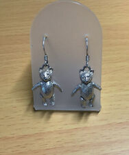 925 Silver Articulated Teddy Bear Earrings / Fab Condition / Stunning/ 8 Grams