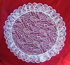 White Lace Chapel Cap Circular Circle Veil Mantilla great for girls ladies -new