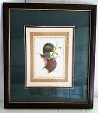 """Duck Print MALLARD by Tom Wood Signed 13"""" x 15"""""""