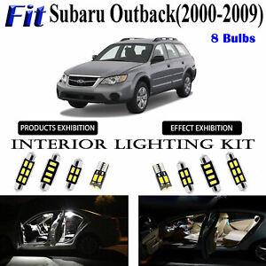 8pcs Super White LED Interior Dome Map Light Kit For Subaru Outback 2000~2009