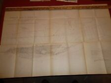 PENOBSCOT RIVER - BANGOR MAINE  -  6 Page Report &  MAP 1906  -  32 X 20 Inches