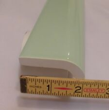 "1 pc. Vintage *Apple Green* Ceramic Mudd Cap Bullnose Tiles by Robertson  ""NOS"""