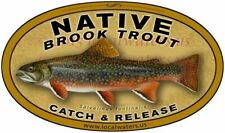 Catch & Release Brook Trout decal Native  fishing sticker GUARANTEED no fade