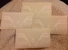 Weezer Band Logo 4 die cut stickers Free Shipping