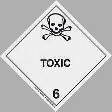 "4"" x 4"" TOXIC Decal  - DOT Transportation Sticker Warning Label Man Cave Hazard"