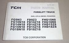 Teilekatalog / Parts CatalogTCM Gabelstapler Forklift Truck Gas LPG Diesel