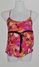 ALANNAH HILL Pure Silk 'Don't Mess Around Cami' Singlet Size 10 Small S RRP:$149