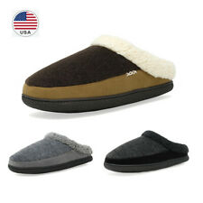 US Men Cozy Slippers Winter Suede Soft Faux Fur Lining Slip On Home Warm shoes