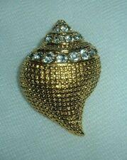Brooch Pendant Pin Enhancer Signed New Os Kjl Kenneth Jay Lane Crystal Sea Shell