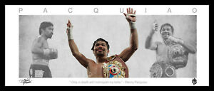 Manny PACQUIAO FRAMED Boxing WINGS Style LITHOGRAPH