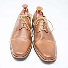 Sandro Moscoloni Men's Size 15D Brown Leather Lace Up Dress Shoes
