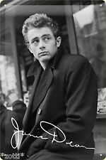 Nostalgic Art Metal Postcard James Dean Rebel with out the Trace Shield#