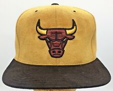 Chicago Bulls Tan Faux Suede Mitchell & Ness Snapback Hat