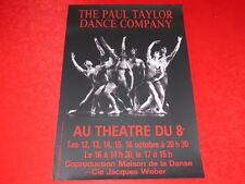 COLL.J. LE BOURHIS AFFICHES Danse / PAUL TAYLOR DANCE COMPANY LYON Ca 1980 Weber