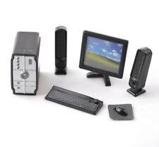 Dollhouse Miniature Modern Computer, Monitor, Speakers & Keyboard Set #KLH203