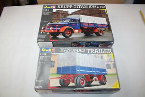 Revell Standmodelle 07559 07570 / Krupp Titan SWL 80 / Hanomag Trailer / 1:24