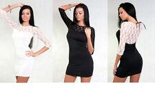 3/4 Arm Damenkleider im Tuniken-Stil mit Rundhals-Ausschnitt aus Viskose
