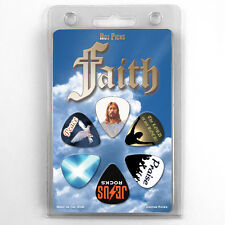 6 Lot Gift Pack FAITH Christian GUITAR PICKS JESUS CHRIST CHURCH Plectrums