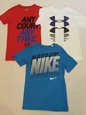 LOT OF 3 BOYS' SHORT SLEEVE SHIRTS, UNDER ARMOUR, NIKE, SIZE YOUTH X-SMALL