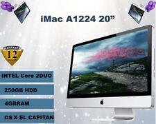 "Apple iMac 20"" Intel Core 2 Duo 2.0GHz - 4GB RAM 250GB HDD- Good Condition"