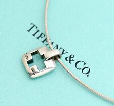 TIFFANY&Co Stencil Cross Necklace  Sterling Silver 925 Pendant v1957
