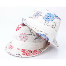 7f4101439c2 Men Women Floral Cotton Short Brim Cuban Fedora Trilby Hat Gentleman Caps  Dance