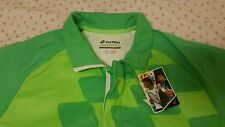 GENUINE Lotto T-Shirt Conner Net Tennis - Fluo Clover/Fluo Green, US Size S