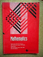 One MATHEMATICS HSC Maths Papers 2/3 Unit NSW Mathematical Association Success