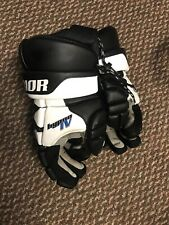 Warrior Hypno 4 Lacrosse Gloves Black, White, Black Adult L