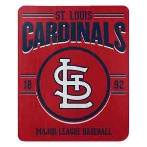 "Northwest MLB Fleece 50""x60"" Throw Blanket Baseball SouthPaw St Louis Cardinals"