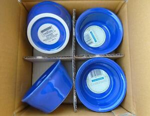 4-pk Corningware CREATIONS 7-oz RAMEKINS 4 1/4 Stoneware Bowls *SAPPHIRE BLUE