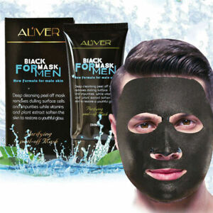 Men Purifying Blackhead Charcoal Face Mask Peel-Off Cleansing Black Remover
