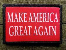 Trump Make America Great Again Red Military Morale Patch MAGA