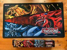 More details for yugioh egyptian gods game/play mat slifer sky dragon obelisk tormentor winged ra