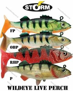 Storm WildEye Naturistic Live Perch. SOFT Lures. 3 PIECES PER PACK.BRAND NEW