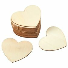 Unfinished Wood Cutout, 24-Pack Heart-Shaped Wood Pieces for Wooden Craft DIY