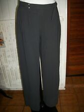 Pantalon habillé fluide polyester gris stretch SARAH PACINI T.0 36/38 16ET38