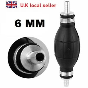 6mm Fuel Primer Bulb Hand Pump Diesel Petrol Gas Priming Non Return Valve Car