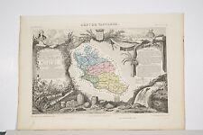 Carte illustrée Département VAUCLUSE XIX° LEVASSEUR Géographe