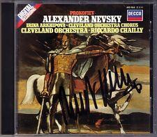 Riccardo CHAILLY Signed PROKOFIEV Alexander Nevsky IRINA ARKHIPOVA CD Cleveland