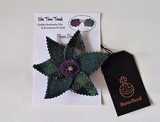 Green Harris Tweed Flower Brooch,mother's day,birthday,bridesmaids,scottish