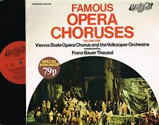 FAMOUS OPERA CHORUSES v 1 LP Vienna State VOLKSOPER Theussl LEGEND 1975 LGD018