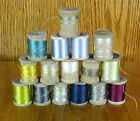 16 VINTAGE SILK FLOSS THREAD FLY TYING CORTICELLI HEMINWAY MISC MANUFACTURERS