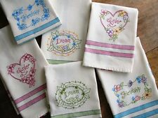 Love, Dream, Friendship Tea Towel Hand Embroidery Pattern