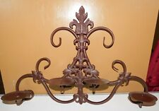Brown Metal 4 Candle Holder Wall Decor Hanging