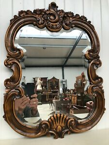 Stunning Carved Walnut Louis XV Mirror